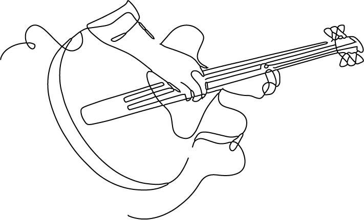 Test guitar line drawing v01
